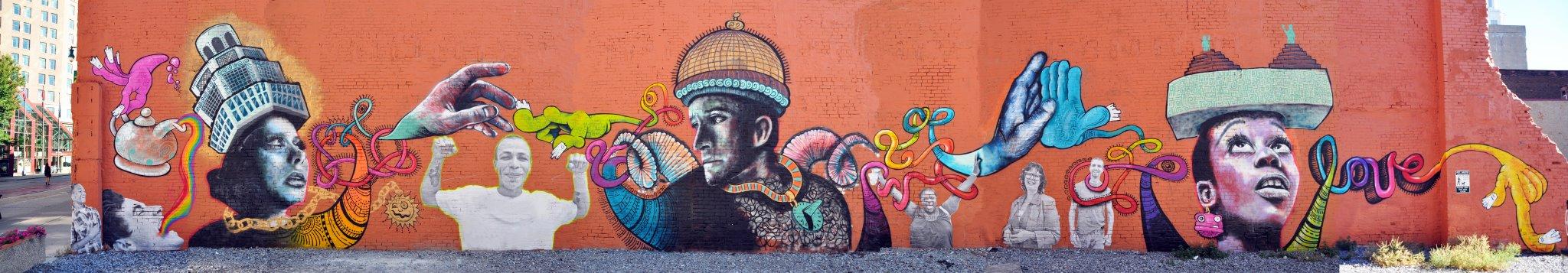 Around buffalowe graffiti art mural by chuck tingley for Bufflon revetement mural