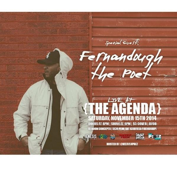 Flagrant City: @JENESISMagazine presents Live at The Agenda – Pittsburgh [11.15.14]