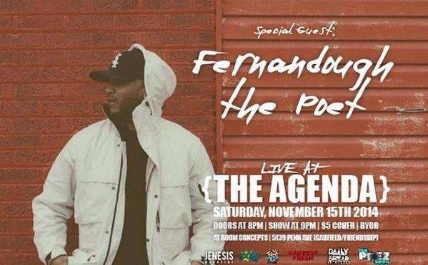 JENESISMagazine presents Live at The Agenda – Pittsburgh [11.15.14]