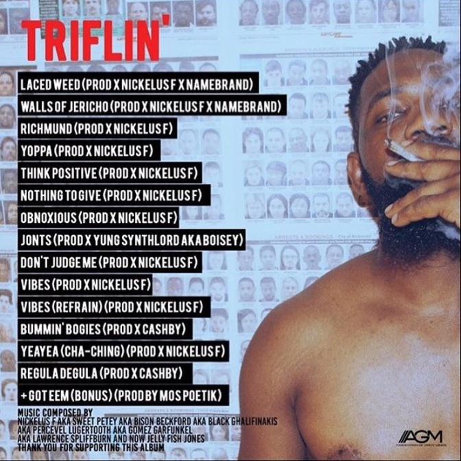 Nickelus F – TRIFLIN' EP Tracklisting [8.28.15]