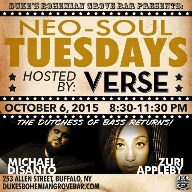 Around BuffaLowe – Neo-Soul Tuesdays Hosted by VERSE featuring ZurI Appleby! [10.6.15]