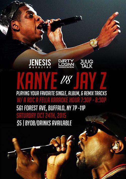 The FC: Dirty Logan x @JENESISMagazine Presents Jay-Z Vs. Kanye Party [10.24.15] #DirtyLogan