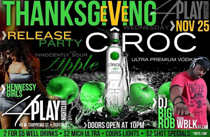 Around BuffaLowe: Ciroc Apple Release Party – Thanksgiving Eve DJ Big Rob [11.25.15]