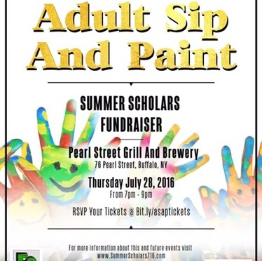 Around BuffaLowe: Summer Scholars, Inc hosts Adult Sip & Paint Fundraiser at the Pearl Street Brewery [7.28.16]