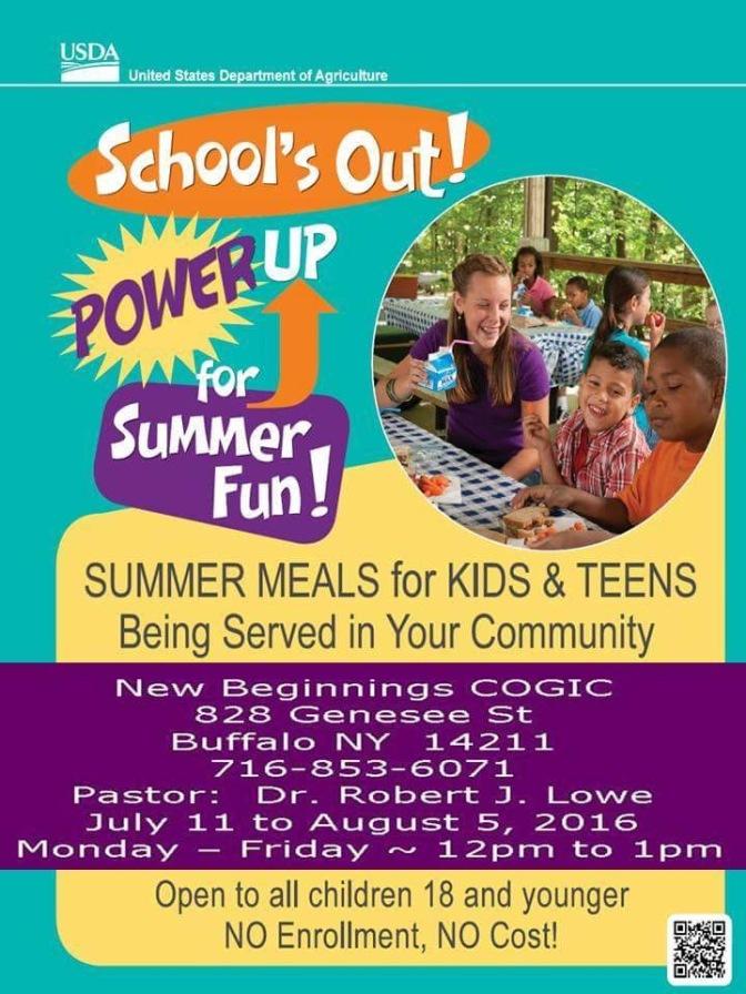 #AroundBuffaLowe: Power Up! FREE Lunch Program @ New Beginnings [7.11-8.5.16]