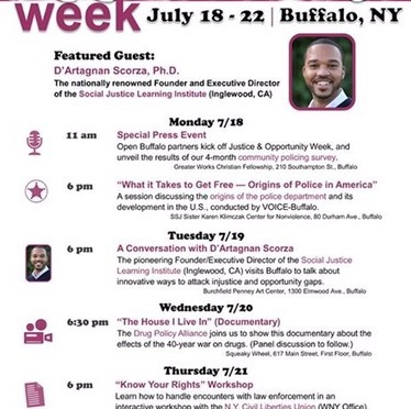 #AroundBuffaLowe: Justice & Opportunity Week presented by Open Buffalo! [7.18-7.22]